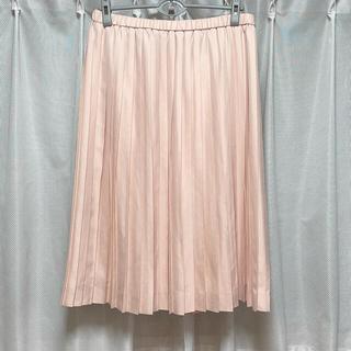 ニジュウサンク(23区)の新品 23区 プリーツ スカート 46 ピンク 大きいサイズ(ひざ丈スカート)