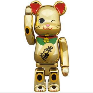BE@RBRICK 招き猫 金メッキ 昇運 弐 100% ベアブリック(その他)