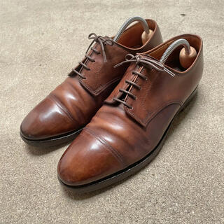 Crockett&Jones - クロケット&ジョーンズ ストレートチップ 革靴 茶 7E 茶 コードバン