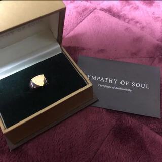 エスオーエスエフピー(S.O.S fp)の完売品シンパシーオブソウル k18 silver925 シグネットリング 6号(リング(指輪))