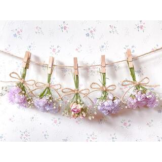 パステルピンクのバラとかすみ草の春色ドライフラワーガーランド♡スワッグ♡ブーケ(ドライフラワー)