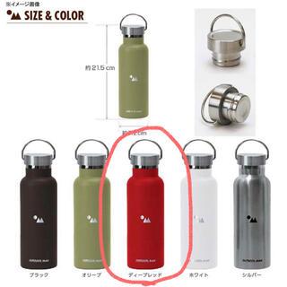 アウトドア(OUTDOOR)のOUTDOORMAN 水筒 ステンレスボトル 500ml レッド 赤(弁当用品)