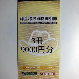 早い者勝!イエローハット株主優待券9,000円分(300円✕30枚)(その他)