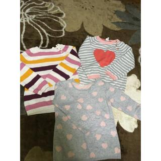 エイチアンドエム(H&M)の3点エイチアンドエムH&M女の子ニットセーター綿100%トップス長袖100サイズ(ニット)