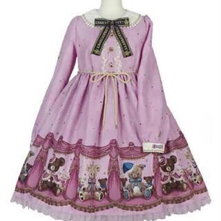アンジェリックプリティー(Angelic Pretty)のangelic pretty  dream bear ワンピースとカチューシャ(ひざ丈ワンピース)