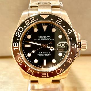 セイコー(SEIKO)のSEIKO NH35搭載 カスタム 腕時計 MOD GMTマスター タイプ(腕時計(アナログ))