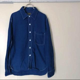 ゴーウエスト(GOWEST)のGOWEST インディゴシャンブレー ワークシャツ(シャツ)