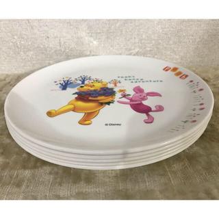 ディズニー(Disney)のくまのプーさん メラミン皿 5枚 セット(プレート/茶碗)