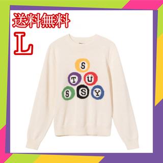 ステューシー(STUSSY)のステューシー STUSSY Billiard sweater  セーター L(ニット/セーター)