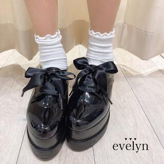エブリン(evelyn)のevelyn 厚底シューズ ブラック(ローファー/革靴)