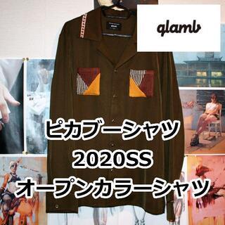 グラム(glamb)のglamb/ピカブーシャツ/20SS/カーキ(シャツ)