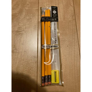トンボエンピツ(トンボ鉛筆)のトンボ 消しゴム付鉛筆 1袋3本(鉛筆)