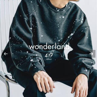 EDIFICE - wonderland ×417 EDIFICE ペイント スウェット トレーナー
