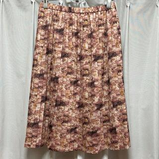 ニジュウサンク(23区)の新品 23区 プリーツ スカート 44 柄 大きいサイズ(ひざ丈スカート)