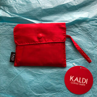 カルディ(KALDI)の【カルディ】エコバッグ(赤)新品(エコバッグ)