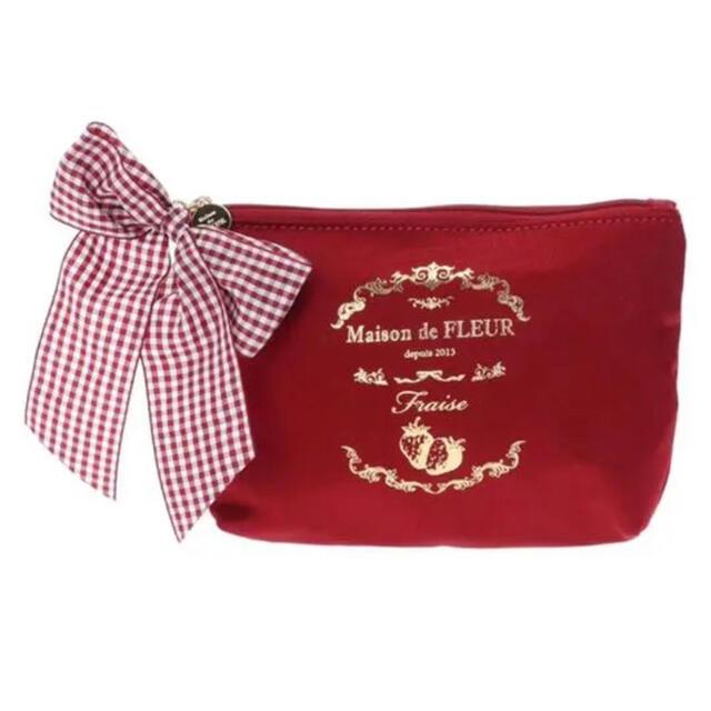 Maison de FLEUR(メゾンドフルール)のメゾンドフルール  いちごポーチ レディースのファッション小物(ポーチ)の商品写真