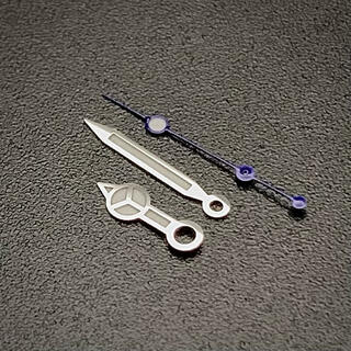 セイコー(SEIKO)のセイコー SEIKO 針 セット カスタム ベンツ ブルー 7S26 4R36(腕時計(アナログ))