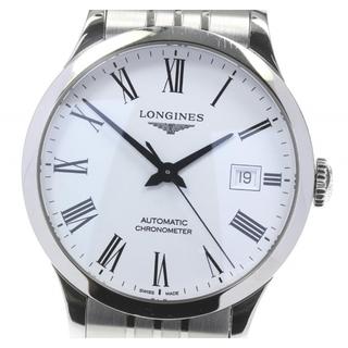ロンジン(LONGINES)のロンジン レコード デイト L2.820.4 自動巻き メンズ 【中古】(腕時計(アナログ))