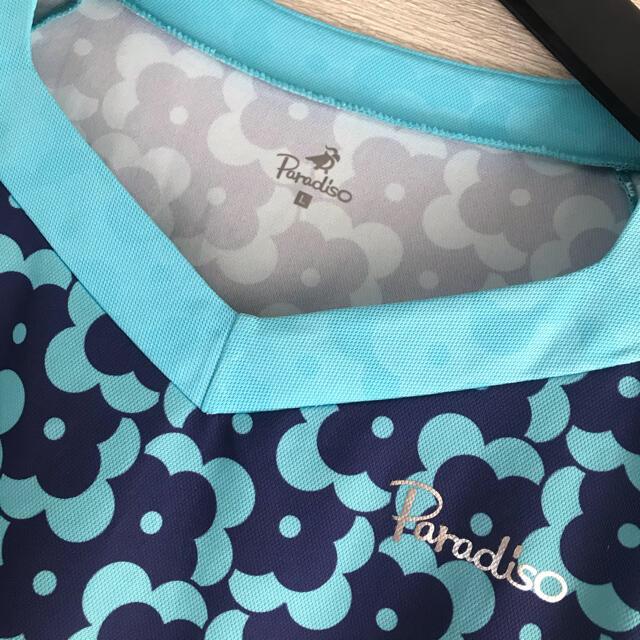 Paradiso(パラディーゾ)の美品!パラディーゾ★テニスウェア★レディース★ゲームシャツ★L スポーツ/アウトドアのテニス(ウェア)の商品写真