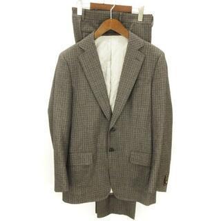 トゥモローランド(TOMORROWLAND)のトゥモローランド セットアップ スーツ シングル 2B チェック グレー系 50(セットアップ)