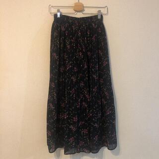 バックナンバー(BACK NUMBER)の花柄ロングスカート プリーツスカート(ロングスカート)