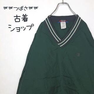 Champion - 【ビックサイズ】チャンピオン ナイロンジャケット リブ付 緑 ふるじょ 緑