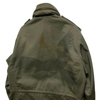 ヨウジヤマモト(Yohji Yamamoto)のヨウジヤマモト 11aw ヒッチコック 鳥抜染ミリタリージャケット M65(ミリタリージャケット)
