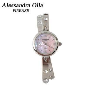 アレッサンドラオーラ(ALESSANdRA OLLA)の【特価】アレッサンドラ オーラ 腕時計 ピンクシェル AO-7350-2①(腕時計)