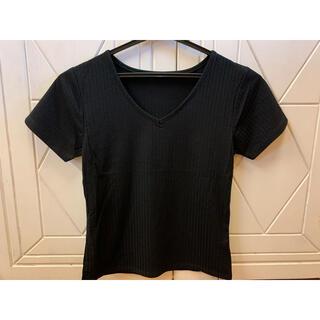 グレイル(GRL)の【GRL】ブラックTシャツ(Tシャツ(半袖/袖なし))