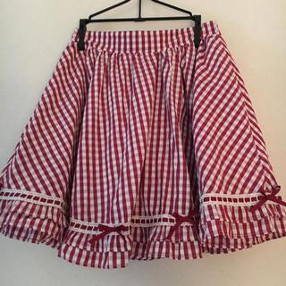 アンクルージュ(Ank Rouge)のAnk Rouge 赤チェックのスカート(ひざ丈スカート)