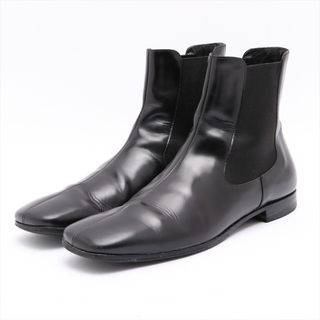 プラダ(PRADA)のプラダ  レザー 8.5 ブラック メンズ ブーツ(ブーツ)