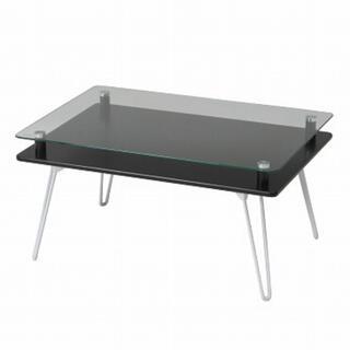 ディスプレイテーブル クラリス ブラック(ローテーブル)