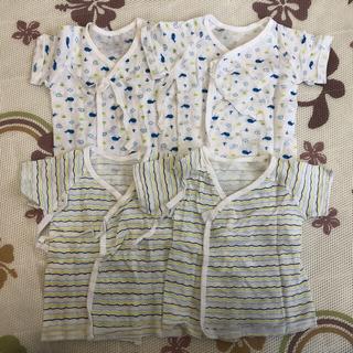 イオン(AEON)の4枚組 新生児 夏用短肌着(肌着/下着)