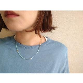 シンゾーン(Shinzone)のmix(Caramel✕light blue)マスクホルダー(ネックレス)