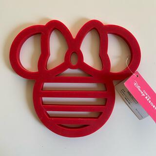 ディズニー(Disney)のディズニー ミニーマウス 鍋敷き(キッチン小物)