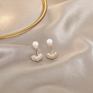 アーカー(AHKAH)の2way heart ear jacket pierce ◯s925 post(ピアス)