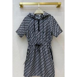 ディオール(Dior)のショートドレス ディオール ジャカード ワンピース M(ミニワンピース)