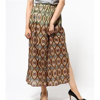 デイシー(deicy)のdeicy ロングスカート アフリカンバティック風 コットンエスニック模様(ロングスカート)
