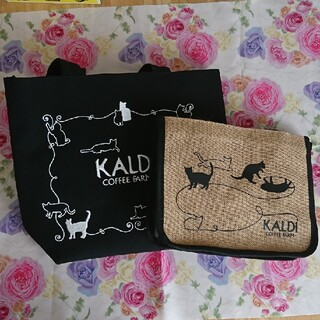 カルディ(KALDI)の≪バッグのみ≫ カルディ ネコの日バッグ 2点(エコバッグ)