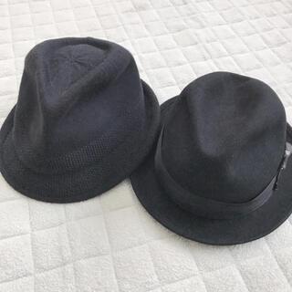 カシラ(CA4LA)のカシラ CA4LA トゥモローランド 中折れ帽子  ハット ブラック(ハット)