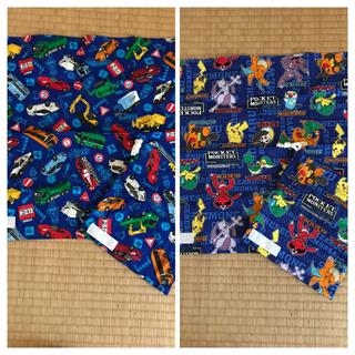 ⭐︎手作り ハンドメイド⭐︎ ポケモンとトミカ 巾着 ナプキン 2点セット(ランチボックス巾着)
