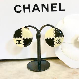 シャネル(CHANEL)の正規品 シャネル イヤリング ココマーク パール バイカラー 丸 ゴールド 真珠(イヤリング)