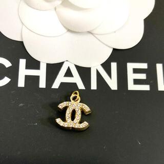 シャネル(CHANEL)の正規品 シャネル ペンダント 金 ココマーク ラインストーン 両面 ネックレス(ネックレス)
