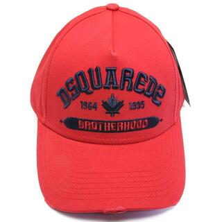 ディースクエアード(DSQUARED2)の新品 ディースクエアード ロゴ キャップ ベースボール 帽子 赤 レッド(キャップ)