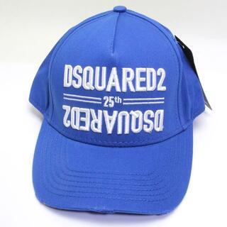 ディースクエアード(DSQUARED2)の新品 ディースクエアード ロゴ キャップ ベースボール 帽子 青 ブルー 加工 (キャップ)