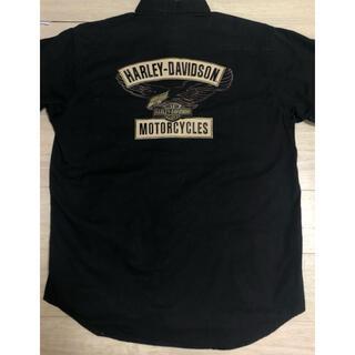 ハーレーダビッドソン(Harley Davidson)のハーレーダビッドソン イーグル ワークシャツ 刺繍 デカロゴ(シャツ)