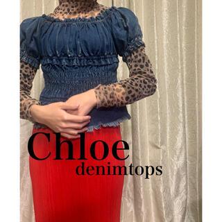 クロエ(Chloe)のChloe デニム トップス(シャツ/ブラウス(半袖/袖なし))