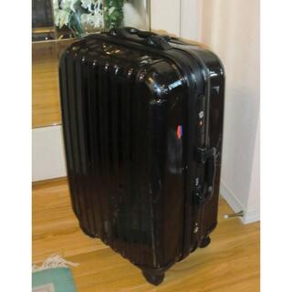 ニッセン(ニッセン)のニッセン 黒トラベルキャリーバッグ スーツケース 60X39X29 鍵なし(旅行用品)