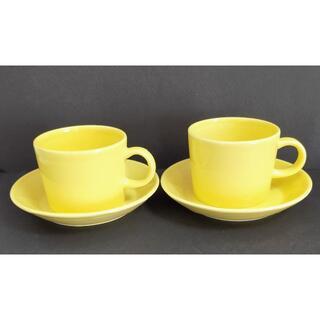 イッタラ(iittala)のイッタラ ティーマ コーヒーカップ&ソーサー イエロー 2セット(食器)