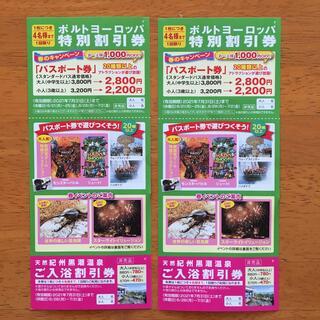 和歌山マリーナシティ ポルトヨーロッパ割引券 2枚(遊園地/テーマパーク)